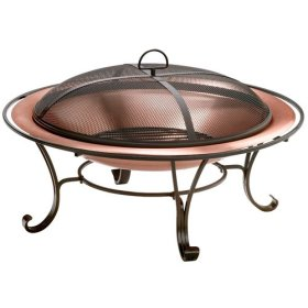 "Coleman 30"" Round Copper Fireplace"