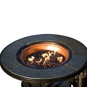 Coleman Firelight Propane Fireplace and Table