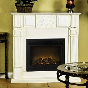 Martin Electric Fireplace - Antique White