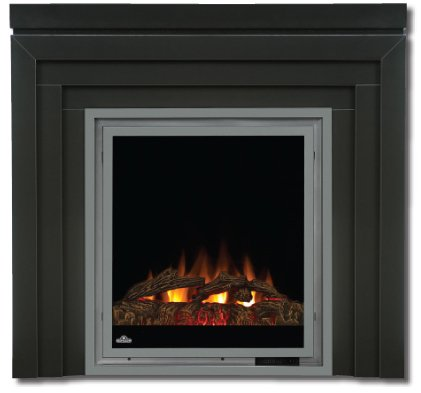 Painted Black Electric Fireplace 5000 BTU