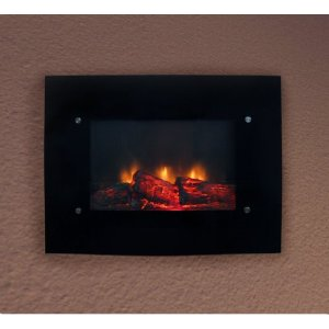 Electric Glass Wall Mount Fireplace With Heater